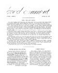 Bard Comment, Vol. 1, No. 2 (October 19, 1956)